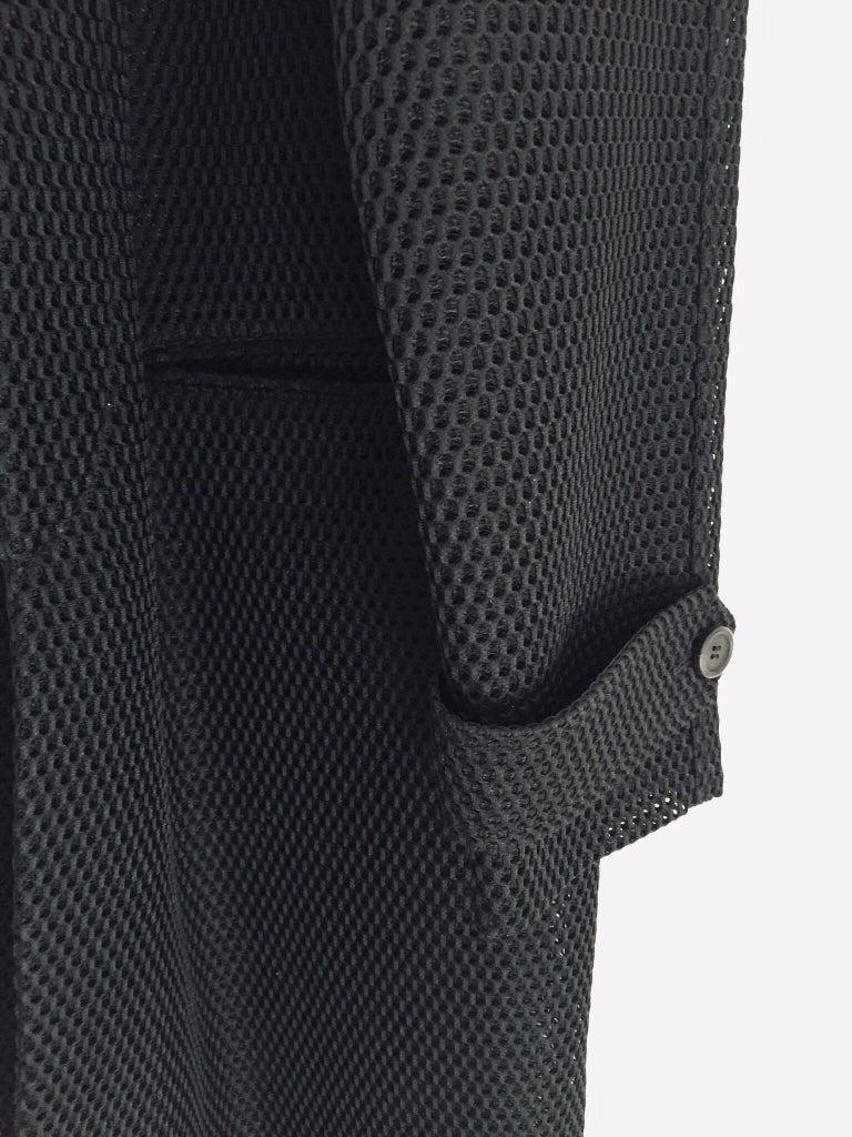 Prada Black Overcoat Made in Italy For Sale 7