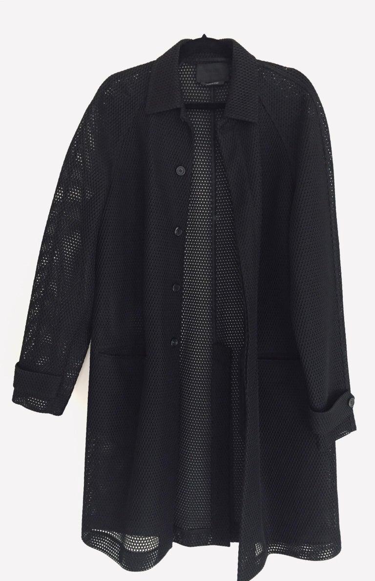 Prada Black Overcoat Made in Italy For Sale 9