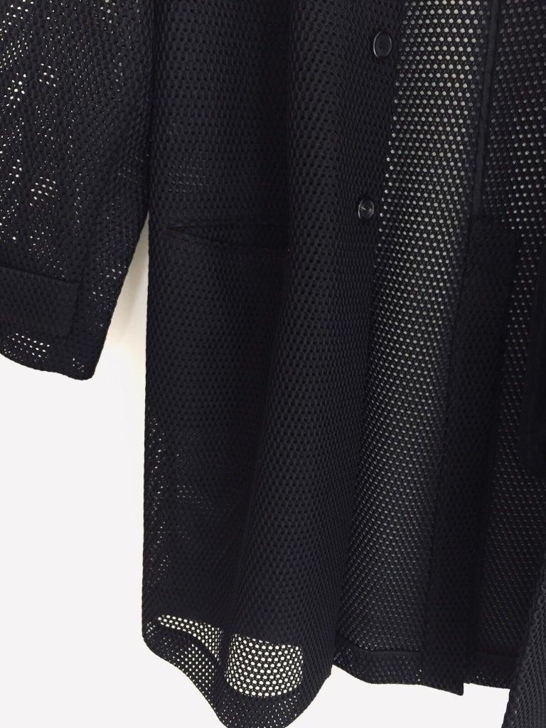Prada Black Overcoat Made in Italy For Sale 10