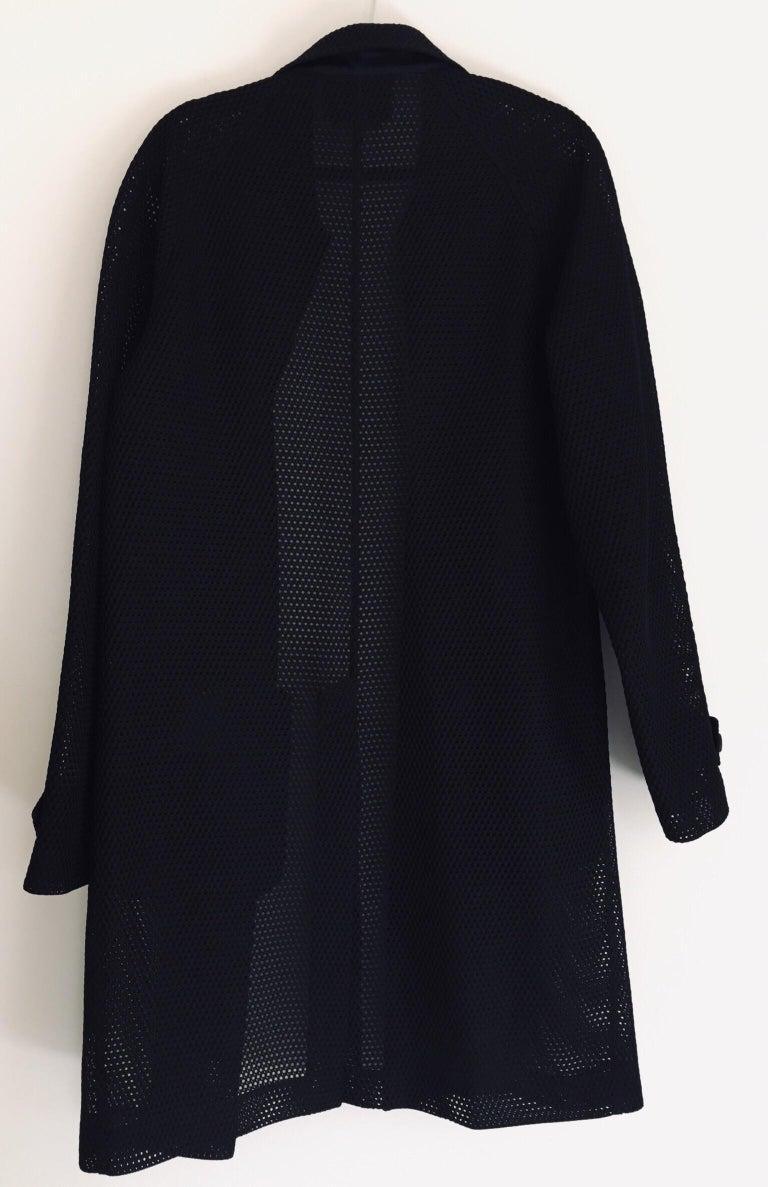Prada Black Overcoat Made in Italy For Sale 11