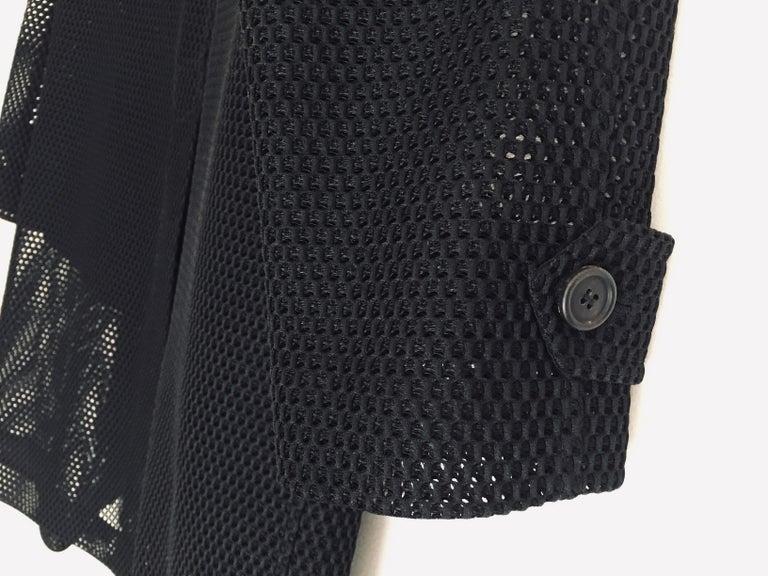 Prada Black Overcoat Made in Italy For Sale 12