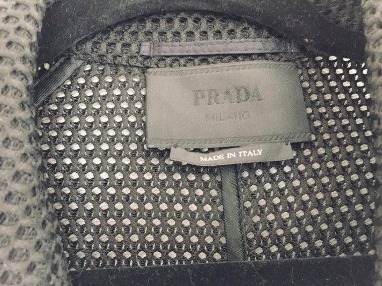 Modern Prada Black Overcoat Made in Italy For Sale