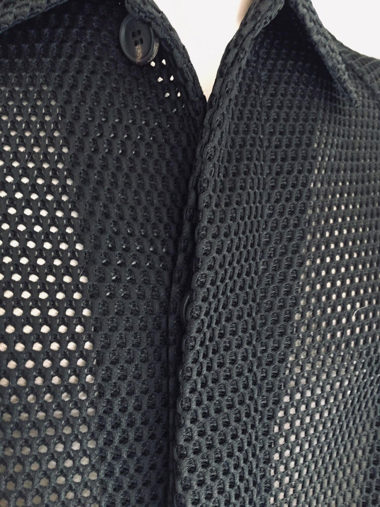 Contemporary Prada Black Overcoat Made in Italy For Sale