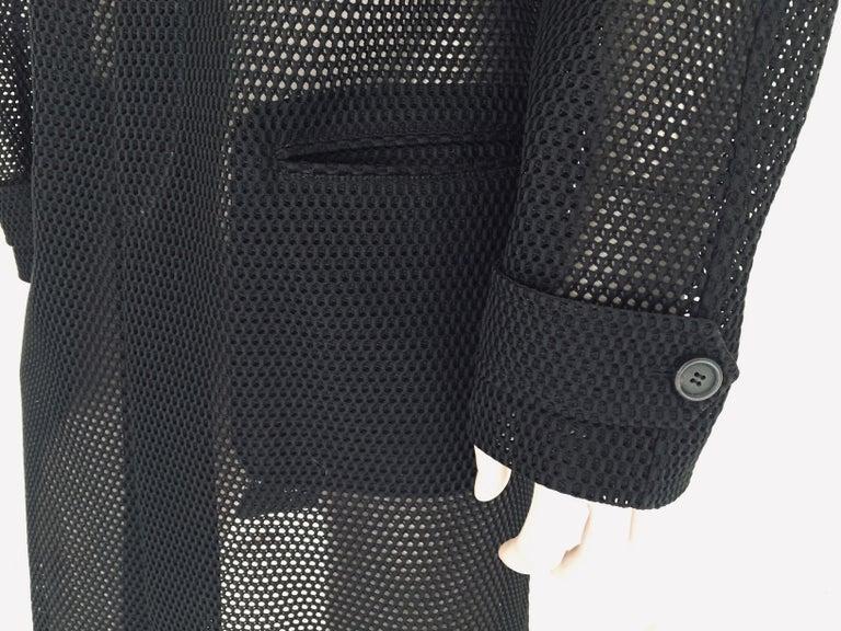 Prada Black Overcoat Made in Italy For Sale 1