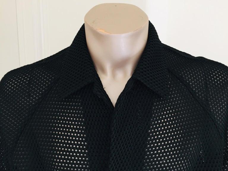 Prada Black Overcoat Made in Italy For Sale 2