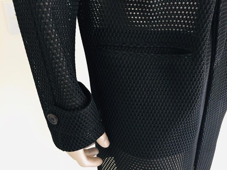 Prada Black Overcoat Made in Italy For Sale 3