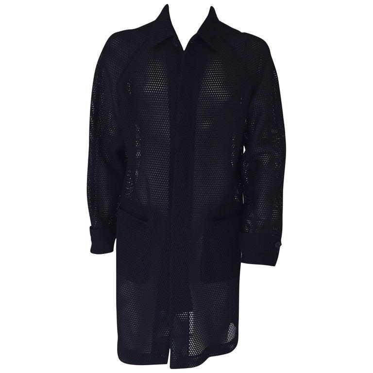 Prada Black Overcoat Made in Italy For Sale