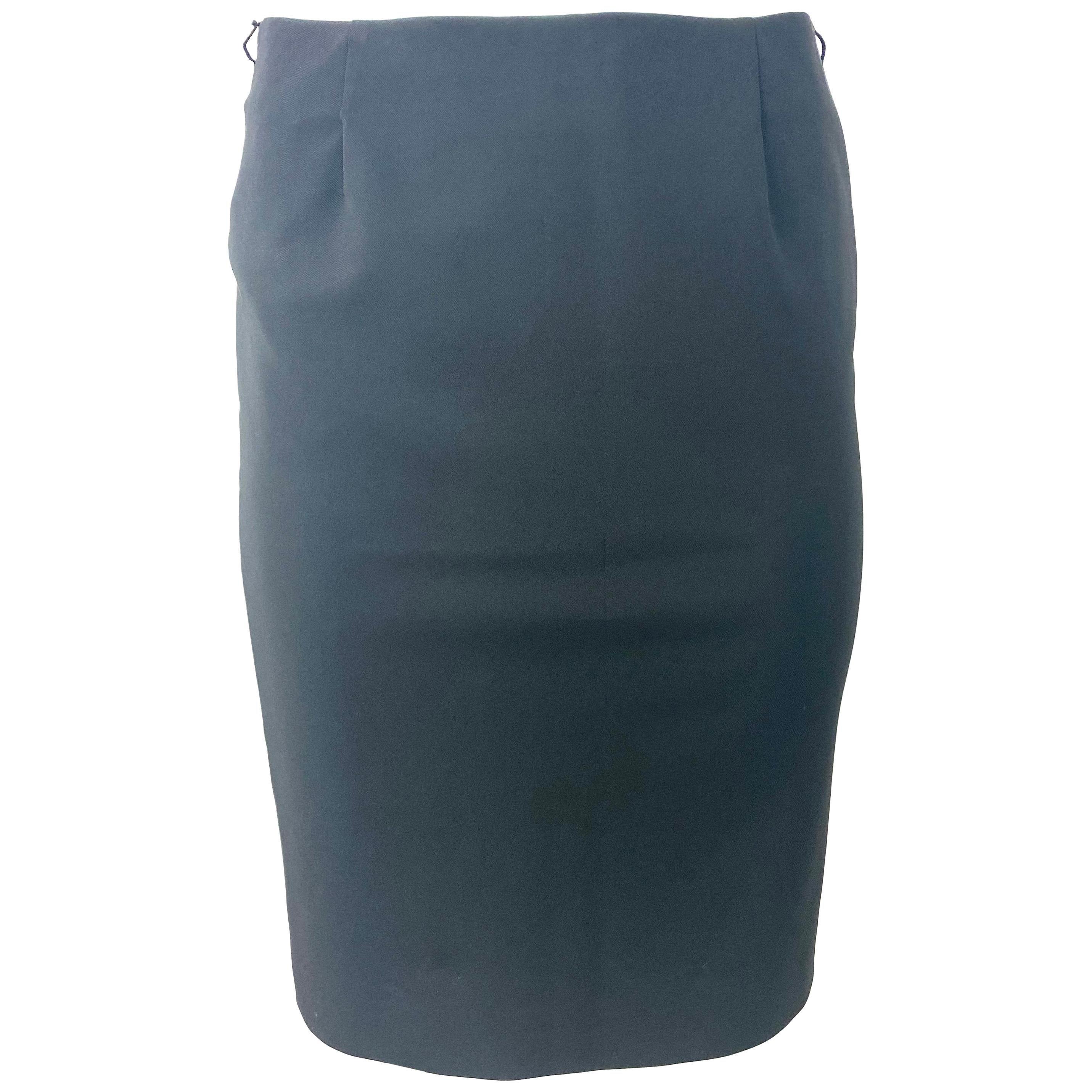 Prada Black Pencil Skirt, Size 40
