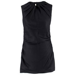 Prada black pleated ruched sleeveless dress - Size US 6