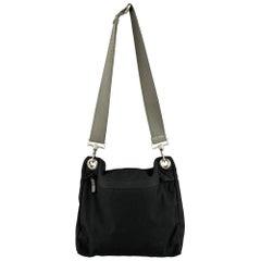 PRADA Black Polyamide Canvas Messenger Handbag