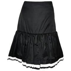 Prada Black Polyamide Wild West Saloon Petticoat Skirt