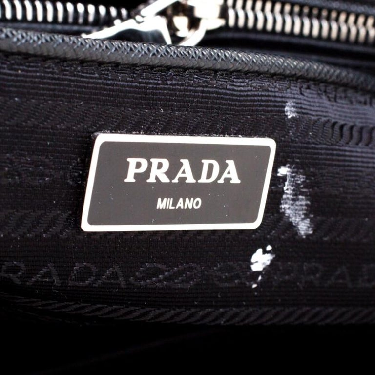 Prada Black Quilted Nylon Shoulder Bag For Sale 1