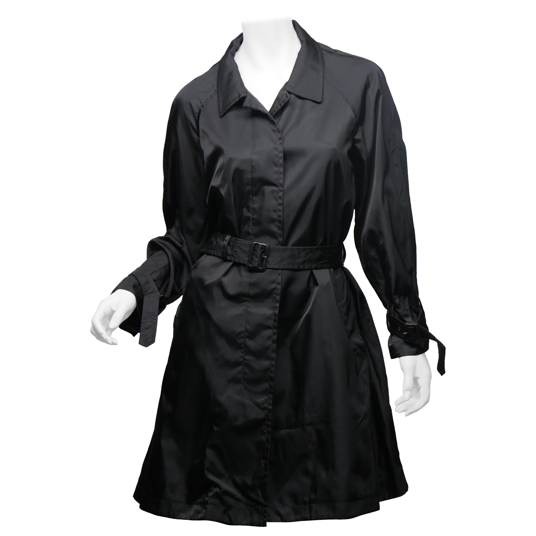 Prada Black Raincoat Size 42