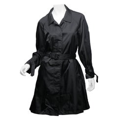 Prada Black Raincoat Size 42