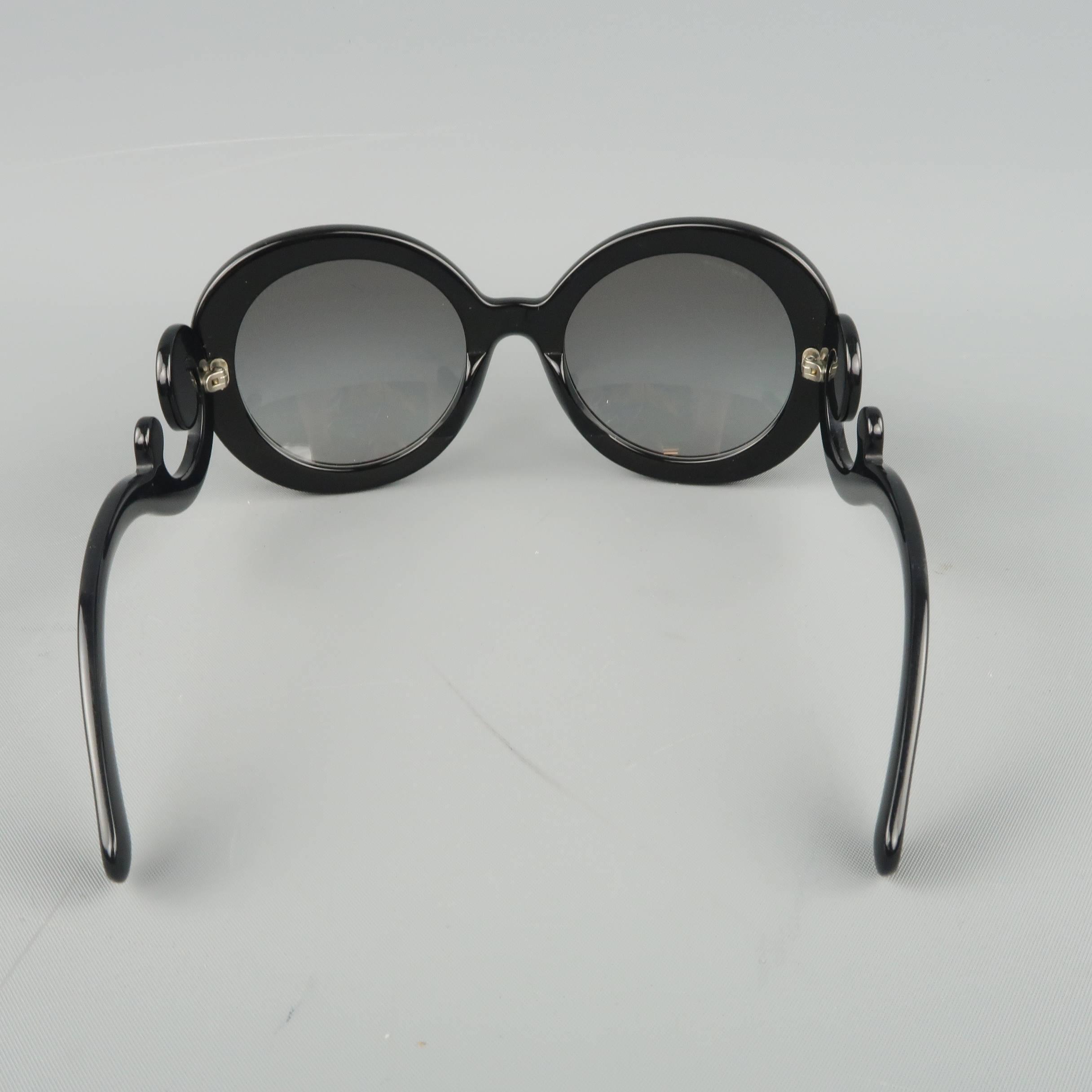 3e8923b54f32 ... sale official store prada black round lens baroque swirl arm sunglasses  for sale 2 91757 2d5c6