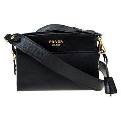 Prada Black Saffiano Leather Crossbody Bag