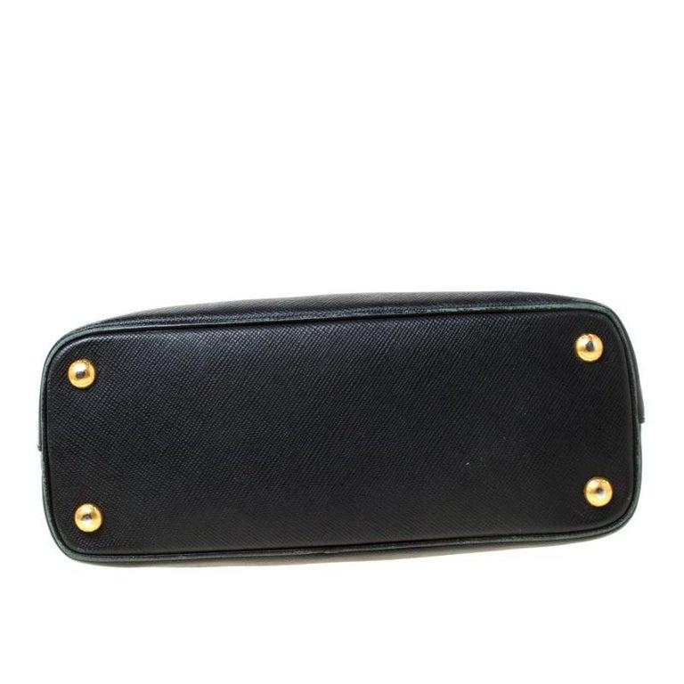 Prada Black Saffiano Leather Promenade Satchel For Sale 7