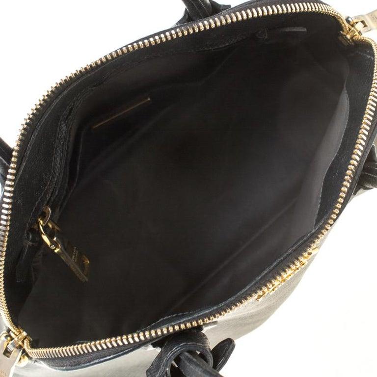 Prada Black Saffiano Leather Promenade Satchel For Sale 2