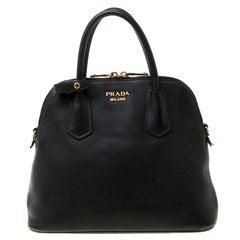 Prada Black Saffiano Leather Promenade Satchel