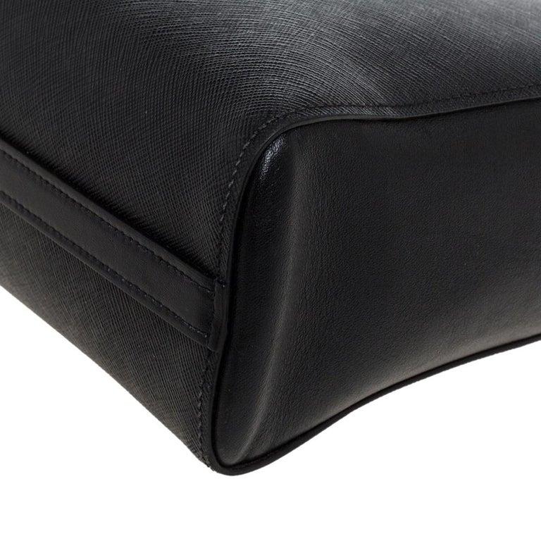 Prada Black Saffiano Lux Leather Galleria Tote For Sale 6