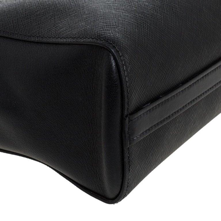 Prada Black Saffiano Lux Leather Galleria Tote For Sale 5