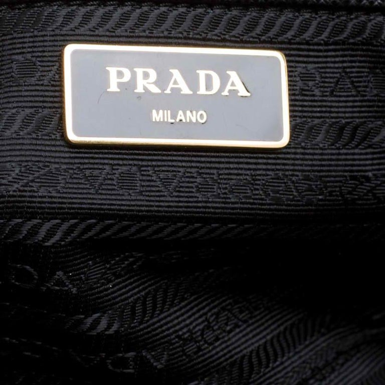 Prada Black Saffiano Lux Leather Large Double Zip Tote 3