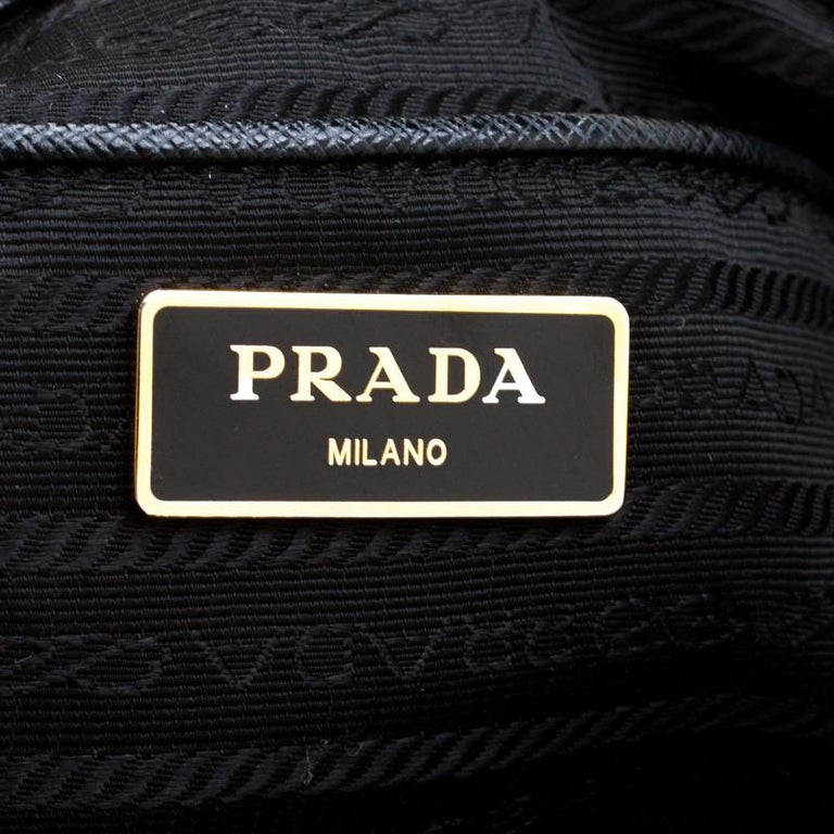 Prada Black Saffiano Lux Leather Large Double Zip Tote 4