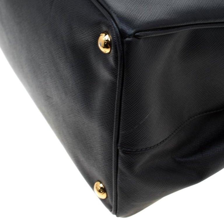 Prada Black Saffiano Lux Leather Large Gardener's Tote 7