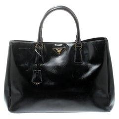 Prada Black Saffiano Lux Leather Large Gardener's Tote