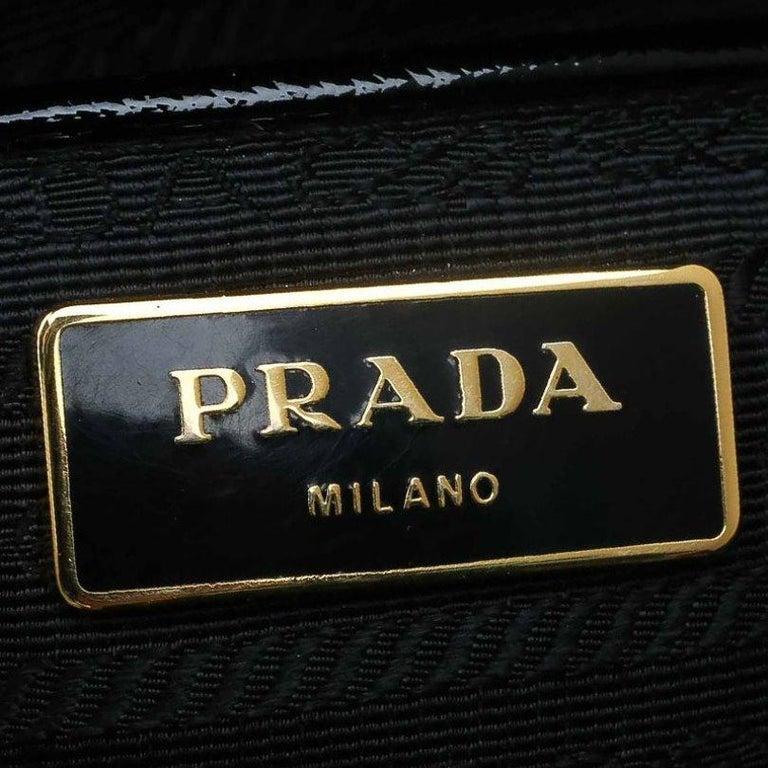 Prada Black Saffiano Lux Leather Parabole Shopping Tote 2