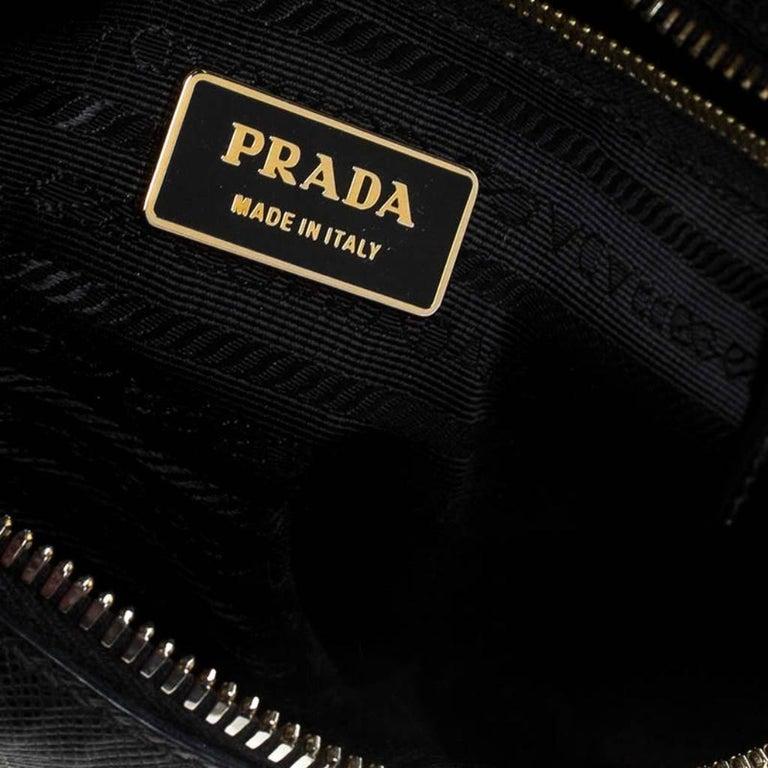 Prada Black Saffiano Lux Leather Satchel For Sale 6