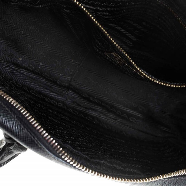Prada Black Saffiano Lux Leather Satchel For Sale 5
