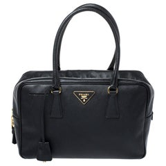 Prada Black Saffiano Lux Leather Satchel