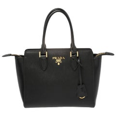 Prada Black Saffiano Lux Leather Tote