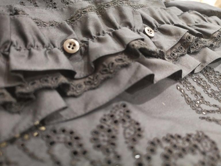 Prada Black Sangallo NWOT Dress For Sale 7