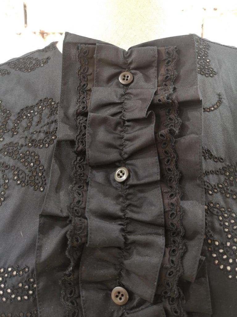 Prada Black Sangallo NWOT Dress In New Condition For Sale In Capri, IT