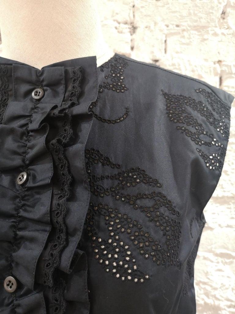 Women's Prada Black Sangallo NWOT Dress For Sale