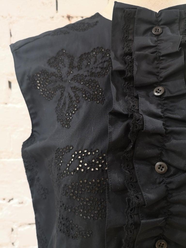 Prada Black Sangallo NWOT Dress For Sale 1