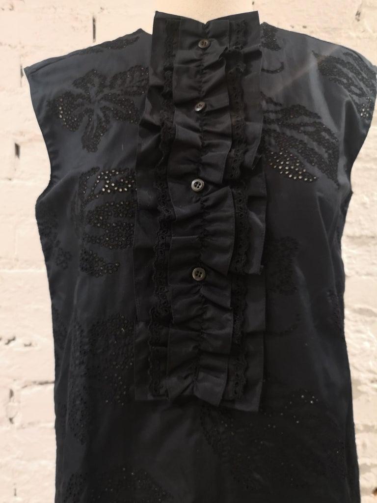 Prada Black Sangallo NWOT Dress For Sale 2