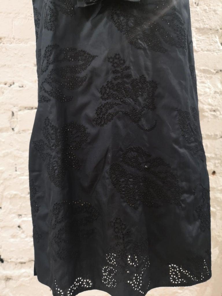 Prada Black Sangallo NWOT Dress For Sale 3