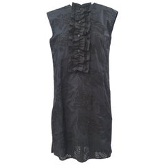 Prada Black Sangallo NWOT Dress