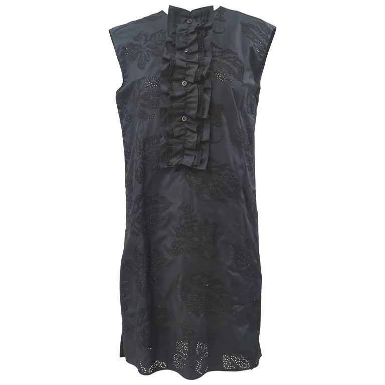 Prada Black Sangallo NWOT Dress For Sale