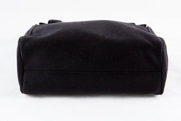 Prada Black Satin Evening Tote Bag For Sale 1