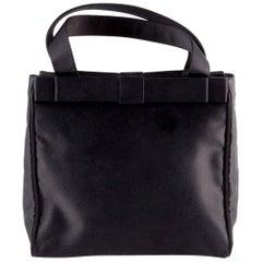 Prada Black Satin Evening Tote Bag