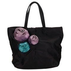 Prada Black Satin Handbag
