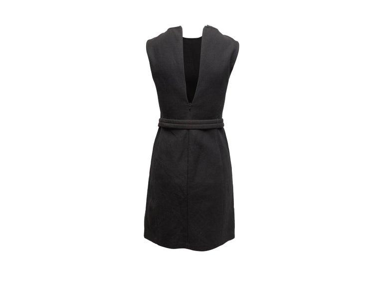 Prada Black Sleeveless Mini Dress In Good Condition For Sale In New York, NY