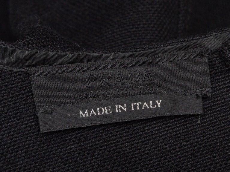 Women's Prada Black Sleeveless Mini Dress For Sale