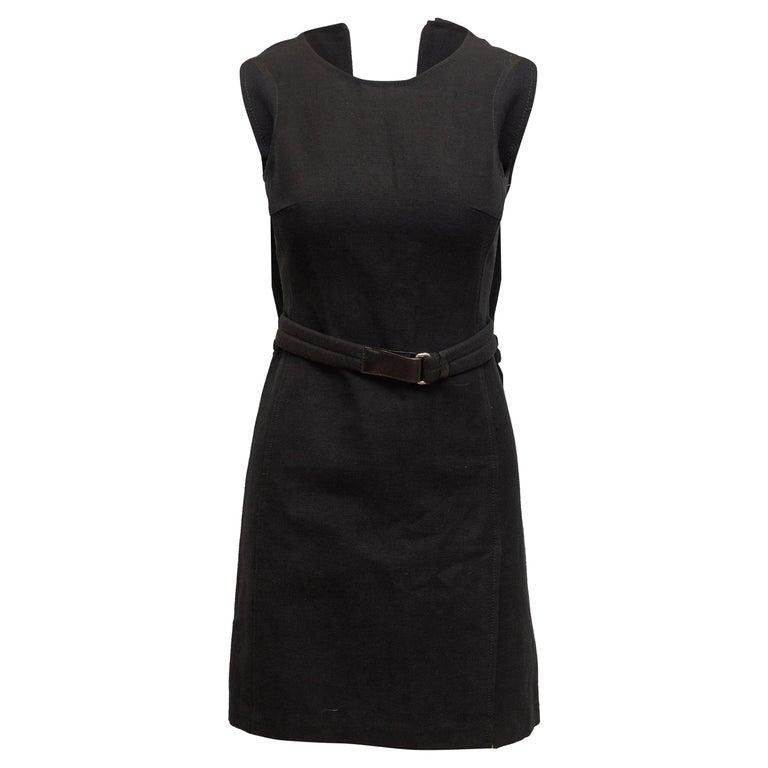 Prada Black Sleeveless Mini Dress For Sale