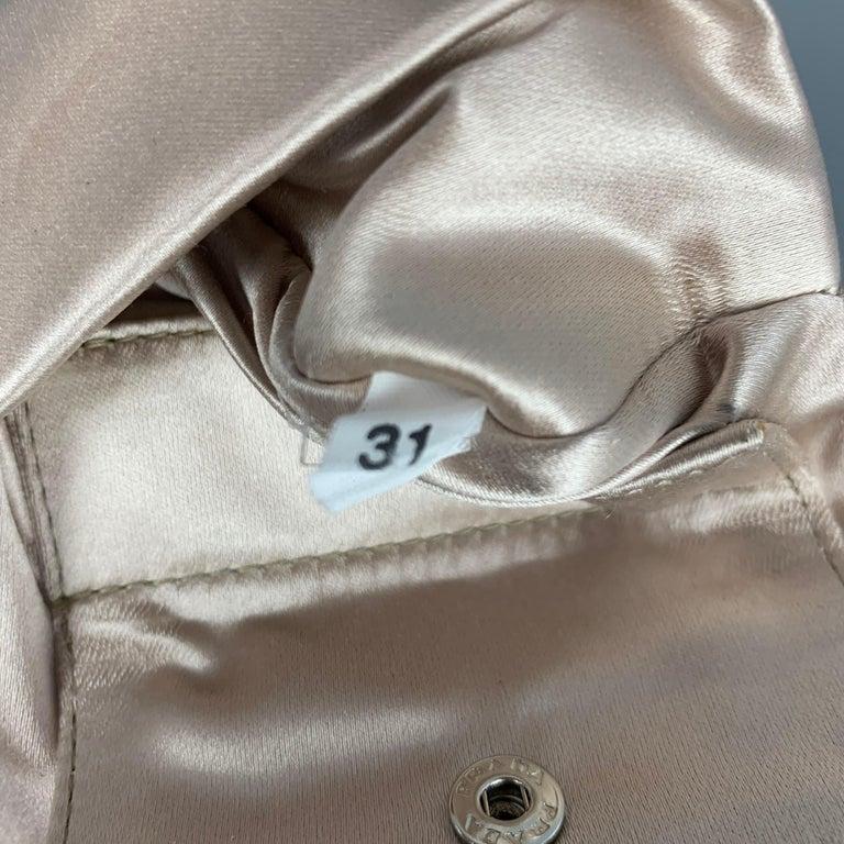 PRADA Black Suede Embellished Rhinestones Evening Handbag For Sale 2
