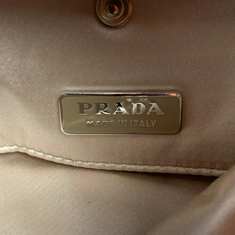 PRADA Black Suede Embellished Rhinestones Evening Handbag For Sale 4